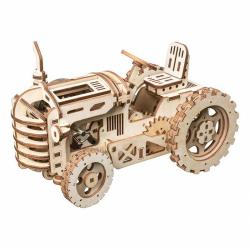 RoboTime 3D drevené mechanické puzzle Traktor