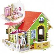 Dřevěná skládačka Vila snů - ložnice