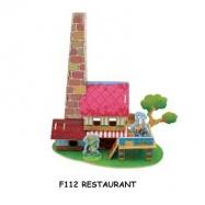 Dřevěné skládačky 3D puzzle - Restaurace