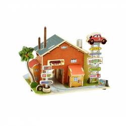 Puzzle 3D Drewniany warsztat samochodowy