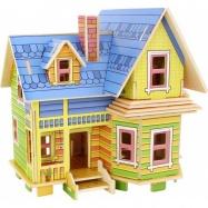 Puzzle Drewniany dom do złożenia