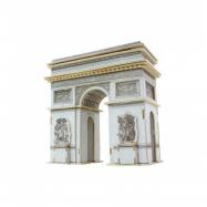 Dřevěné skládačky 3D puzzle - Vítězný oblouk barevný
