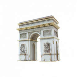Drewniane puzzle 3D - Łuk Triumfalny w kolorze