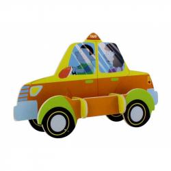 Dřevěné skládačky - sřední 3D puzzle - Taxi