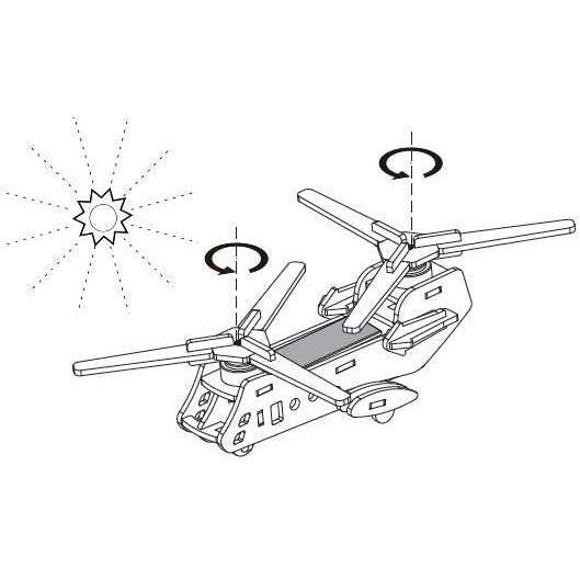 RoboTime - Solární vojenský vrtulník  CH47 - P320