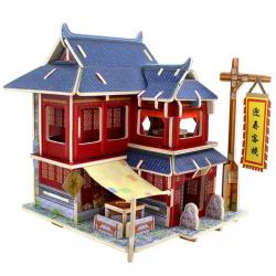Robotime dřevěná skládačka Čínský hotel