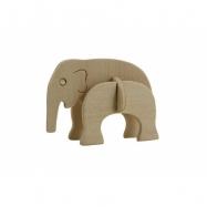 Dřevěné skládačky 3D puzzle - Mini slon