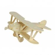Dřevěné 3D puzzle dřevěná skládačka - Dvojplošník