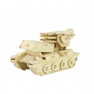 Dřevěné skládačky 3D puzzle - Tank s raketama