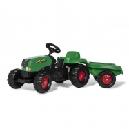 Šlapací traktor Rolly Kid s vlečkou - zeleno-červený