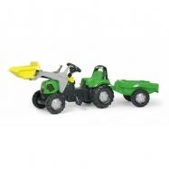 Šlapací traktor Rolly Deutz s přívěsem a nakladačem