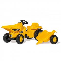Šliapací traktor - Dumper Kid CAT s vlečkou