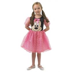 Minnie Mouse: ružový kostým - vel. M