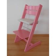 Detská rastúca stolička JITRO KLASIK ružová