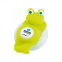 Teplomer digitálny do vane žaba White and Lime