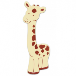 Nalepovacie zvieratko na prírodný nábytok - žirafa