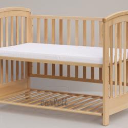 Materac piankowy do łóżeczka Scarlett - biały - 120x60x6 cm