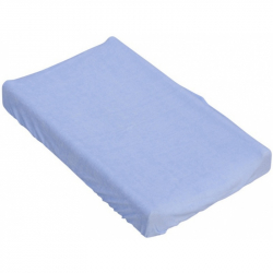 Prestieradlo na prebaľovaciu podložku alebo matrac do kolísky či koša - modrá 85 x 55 cm