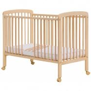 łóżeczko dziecięce Misza z wyjmowanymi przęsłami buk - naturalne 120x60 cm