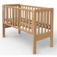 Łóżeczko dziecięce Scarlett Baby Ana z opuszczanym bokiem, buk- naturalne 90x41 cm