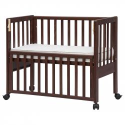 Łóżeczko dziecięce Scarlett Baby Ana z opuszczanym bokiem, buk- orzech 90x41 cm