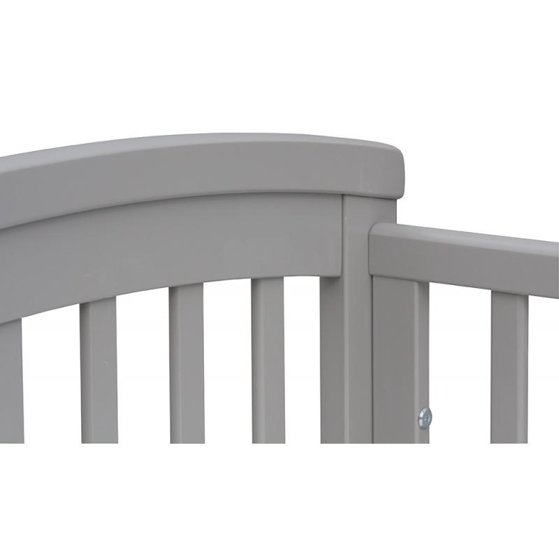 Postýlka s odnímatelným bokem Scarlett LAURA buk šedá 120 x 60 cm