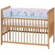 Czteroczęściowy ochraniacz do łóżeczka Scarlett Pupis na szczebelki – niebieski