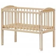 Detská postieľka k posteli rodičov BABY Scarlett ECO (borovica), st. bok - 90 x 41 cm