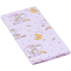 Materac do łóżeczka Scarlett Mráček - różowy, 120 x 60 x 6 cm