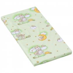 Materac do łóżeczka Scarlett Mráček - zielony, 120 x 60 x 6 cm