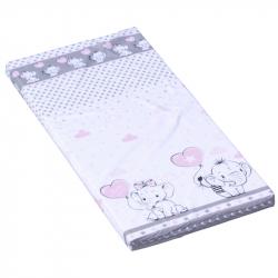 Materac do łóżeczka Scarlett Gusto - różowy, 120 x 60 x 6 cm