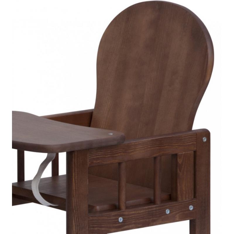 08faea4b7991 Detská drevená jedálenská stolička Scarlett KOMBI - masív borovica - wenge