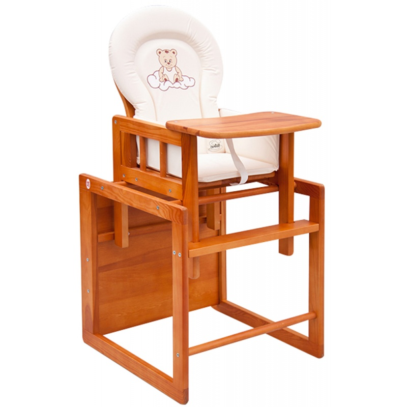 3e5afcdff2f6 Detská drevená jedálenská stolička Scarlett KOMBI - masív borovica - jelša