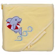 Froté uterák - Scarlett delfín s kapucňou - žltá