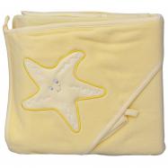 Froté uterák - Scarlett hviezda s kapucňou - žltá