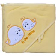 Froté uterák - Scarlett veľryby s kapucňou - žltá