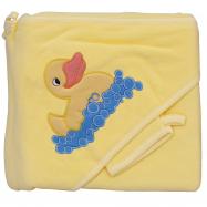 Froté uterák - Scarlett kačička s kapucňou - žltá