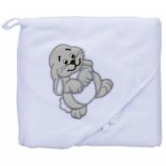 Froté uterák - Scarlett zajac s kapucňou - biela