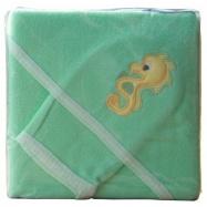 Froté uterák - Scarlett s kapucňou - zelená