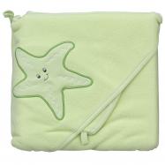 Froté uterák - Scarlett hviezda s kapucňou - zelená