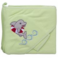 Froté uterák - Scarlett delfín s kapucňou - zelená
