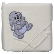 Froté uterák - Scarlett zajac s kapucňou - béžová