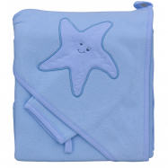 Froté uterák - Scarlett hviezda s kapucňou - modrá
