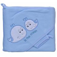 Froté uterák - Scarlett veľryby s kapucňou - modrá