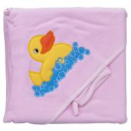 Froté uterák - Scarlett kačička s kapucňou - ružová