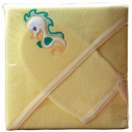 Froté uterák - Scarlett s kapucňou - žltá