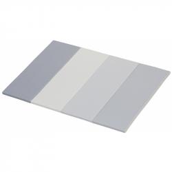 Skládací žíněnka Scarlett Dáša - URB/M – mléčně šedá, 200 x 120 x 4 cm