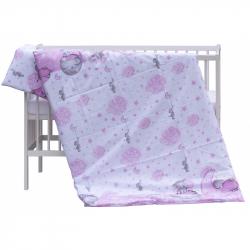 Dwuczęściowy komplet pościeli do łóżeczka Scarlett Lucy - różowy,135 x 100 cm