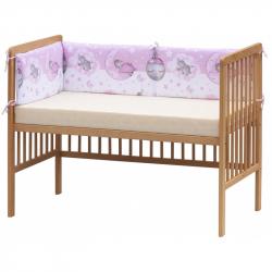 Czteroczęściowy ochraniacz do łóżeczka – Scarlett Lucy - 180 x 30 cm - różowy