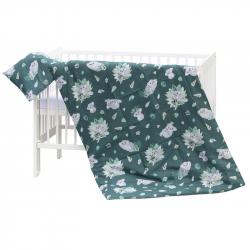 Dwuczęściowy komplet pościeli do łóżeczka Scarlett Gata - zielony, 135 x 100 cm